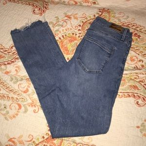 Express cropped mid rise jeans